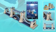 3D Puzzle - London Tower Bridge 120 Pieces by Daron. $14.15. Perfect for display anywhere in your home. Contains 120 pieces. Made of paper and polystyrene foam board. Great gift idea for puzzle lovers. Features the beautiful London Tower Bridge. The London Tower Bridge is a combined bascule and suspension bridge in London, England over the River Thames.It is close to the Tower of London, which gives it its name.It has become an iconic symbol of London.Tower Bridge is one o...