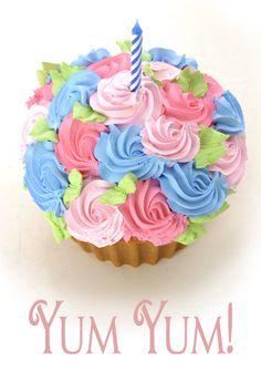 Sweet Escape jumbo cupcake for cake smash shoot!