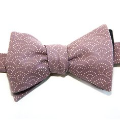 Nœud papillon Eventail Violet Purple Fan Japanese bow tie