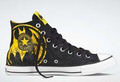 2524219eba8c Converse shoes DC Comics- Batman Chuck Taylor All Star Shoes Black Yellow  hi - Canvas Shoes Online