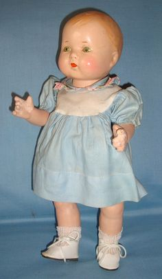 Vintage unmarked composition doll.