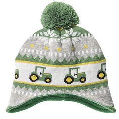 Toddler size John Deere Green Knit HAT with tractors and pom. Acrylic Knit with Deere Tag Acrylic Knit Toddler Sizing Licensed Merchandise Features John Deere tractors Toddler Boy Fashion, Toddler Boy Outfits, Toddler Boys, Baby Kids, Kids Outfits, Kids Fashion, Lil Boy, Little Boys, Knitting Patterns Boys