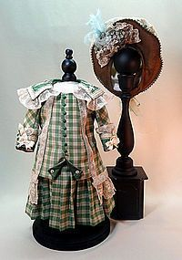 """Silk and Lace Visiting Costume for 18"""" French Bebe (item #1278816)  #dollshopsunited"""