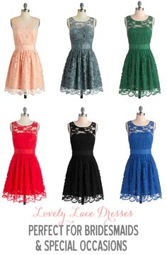 Bridesmaid Dresses http://www.theperfectpalette.com/2013/08/bridesmaid-dresses-pick-your-color.html #Wedding #musicplaylist