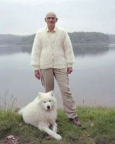 Owners are wearing sweaters made from their own dog's fur... ummm  hmm mine would be caked in mud.