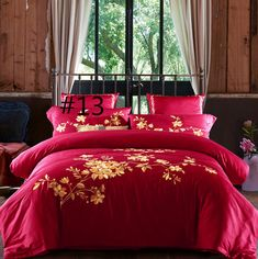 Cotton embroidery Plain Solid-Color Bedclothes Four Pieces cotton sheets Bedding 4 Satin Jacquard Queen Size Bed Sets, Queen Bedding Sets, King Size, King Sheets, Bed Sheets, Bedclothes, Linen Rentals, Cotton Sheets, Flat Sheets