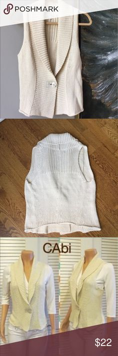 Cabi Ivory Sweater Vest,  Limited Vintage Limited Edition Vintage Cabi Vest. CAbi Sweaters