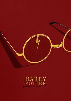 Harry Potter print Illustration Minimal film poster minimalist movie art custom posters film and movie print film art Harry Potter Poster, Harry Potter Plakat, Harry Potter Art, Harry Potter Minimalist, Minimalist Book, Pulp Fiction, Film Poster Design, Movie Poster Art, Poster Layout