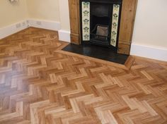 Beautiful Herringbone design hallway and dining room in Amtico Signature, another very happy customer