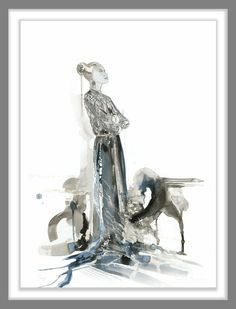 """Sovereign"" Artwork by Sharon Leilani Boonzaier Ink, silver leaf on Rosapina paper height x 70 cm width"