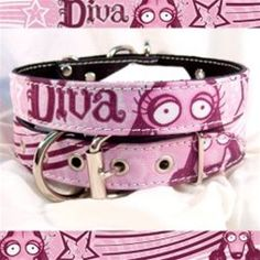 Diva Leather Dog Collar