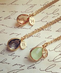 Cute personalised necklaces for your bridesmaids