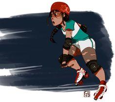 Roller Derby Girl by Gabs37 #rollerderby #rollergirl