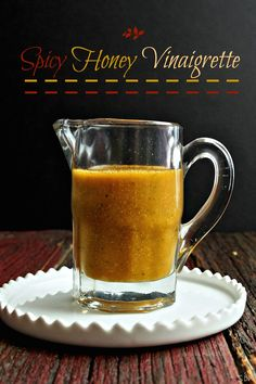 Spicy Honey Vinaigrette has a flavor profile that delivers a subtle punch without TKOing the taste buds. Cider vinegar, honey, soy sauce, garlic