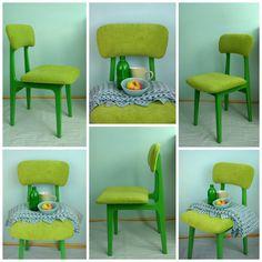 Riona: Zielone krzesełko - renowacja - przed i po
