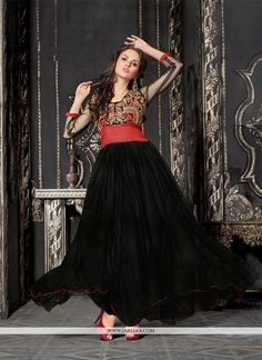 Jazz Black Net Designer Gown. Suits Online ShoppingAnarkali SuitsAnarkali  DressGown ... 005d5c424