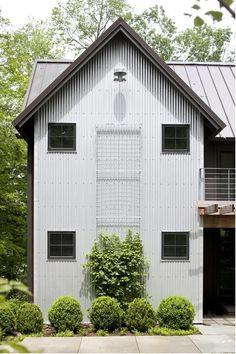 Steel siding. Interesting. Berkshires house by Ritch Holben of RhDesign, Keller + Keller photo | Remodelista