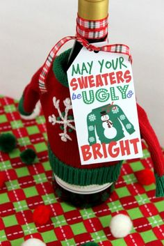 Free Ugly Sweater Gift Tag Printable OHMY-CREATIVE.COM 2
