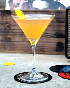 The Soother: 1 oz. Cognac 1 oz. Jamaican rum 1/2 oz. orange curaçao Juice of 1/2 lemon 1 tsp. apple juice 1/2 tsp. simple syrup (1:1) Tools: shaker, strainer Glass: goblet Garnish: lemon twist