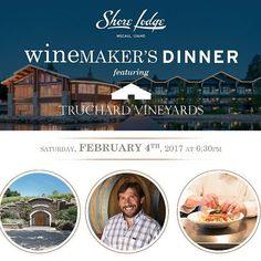 Join us Saturday, February 4th for the first #Winemaker's Dinner of 2017, featuring #TruchardVineyards. RSVP now. Link in bio.