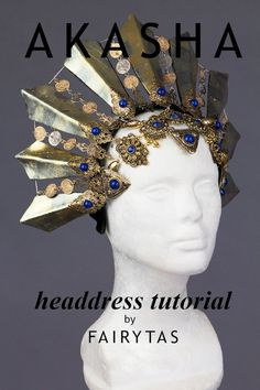 Akasha was said to be the first and most beautiful vampire, not only in physical appearance but also in the garments she wore. With this step by step tutorial, you'll be able to craft a headdress fit for a Queen of the Damned! Through pictures and a detailed description, this 6 step tutorial will Halloween Looks, Holidays Halloween, Halloween Party, Cosplay Tutorial, Diy Tutorial, Queen Of The Damned, Diy Crown, Diy Costumes, Awesome Costumes