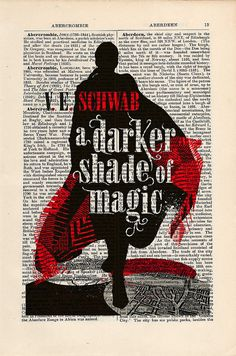 A Darker Shade of Magic by V.E. Schwab Print on an antique