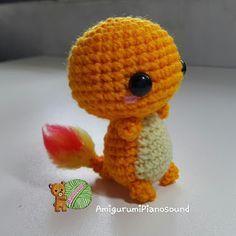 Chermander - Hitokage Pokemon Doll - Free English Pattern and Videotutorial here: http://amigurumipianosound.blogspot.com.es/2016/04/charmander-hitokage-pokemon-pattern.html