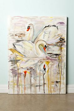 Swans In The Canal By Ashley Longshore #anthropologie