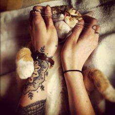 #mandala #arm #tattoo #cute #cat