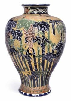 Bid in-person or online for the upcoming auction:Japanese Art and Design on 10 November 2010 at London, South Kensington Japanese Vase, Japanese Ceramics, Satsuma Vase, Different Forms Of Art, Fine China, Ceramic Art, Art Forms, Tea Pots, Pottery