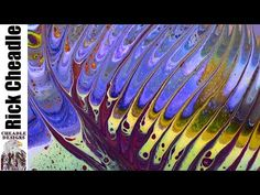 418. fluid pouring Art demo w fluid acrylic, tutorial abstract painting technique how to paint - YouTube