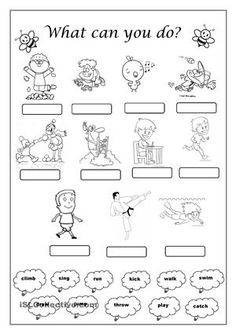 Image result for verbs actions worksheets first grade