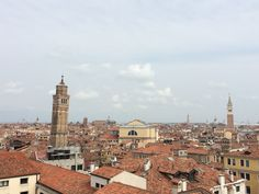 Altana or Rooftop terrace view in Venice