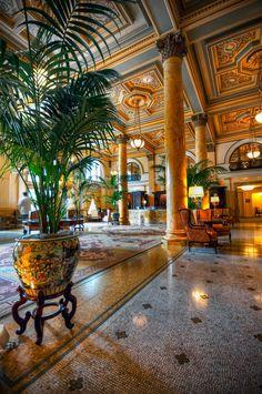 the lobby of the Willard Hotel Washington DC