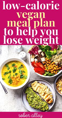 Looking for a low-calorie plant-based or vegan meal plan to help you lose weight fast without being hungry? Pair this delicious, easy meal plan and plant-based grocery shopping list with intermittent fasting and watch your metabolism burn fat and melt fat SUPER fast! Easy Meal Plans, Vegan Meal Plans, Easy Meals, Diet Plans To Lose Weight, How To Lose Weight Fast, Low Calorie Vegan Meals, Plant Based Meal Planning, Intermittent Fasting, Plant Based Recipes