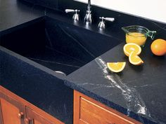 Oranges-Vermont Soapstone sinks are timeless, handcrafted and guaranteed forever Trough Sink, Victorian Kitchen, Soapstone, Kitchen Reno, Sinks, Vermont, Reno Ideas, Griddle Pan, Locker