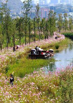 ASLA 2015 Professional Genera Design Honor Award. Liupanshui Minghu Wetland Park / Turenscape