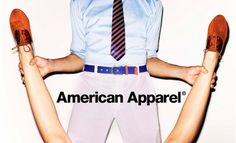 """Here is an ad by American Apparel that is sexualizing women's body parts and separating them from the human being as if suggesting that women are no more than their body parts. The man is holding her legs spread wide and fully clothed, hence showing his dominance and role as a male. We do not know what the woman may be thinking or how she is feeling, or what her face looks like, because in this ad that isn't the information that they are trying to present.  This ad almost screams, """"buy our…"""