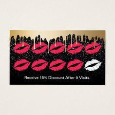 #makeupartist #businesscards - #Makeup Artist Gold Drips Trendy Black Loyalty Business Card