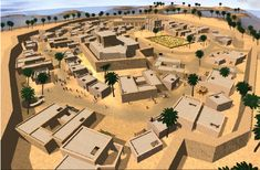 Visualisation of the city of Uruk 3000 BC. City of Uruk 3000 B.C. : Using genetic algorithms, dynamic planning and crowd simulation to re-enact everyday life of ancient Sumerians.