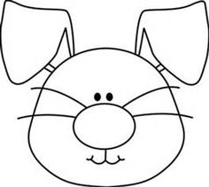 bunny face clip art black and white - Yahoo Search Results Bunny Face, Easter Bunny, Bing Images, Snoopy, Clip Art, Kids Rugs, Easter Decor, Easter Ideas, Black And White