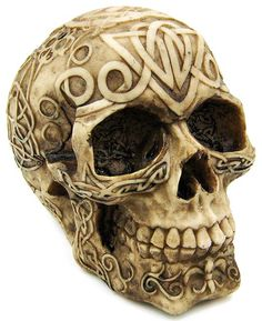 Celtic Skull : found uncredited on Pinterest if you know who to credit , please comment .