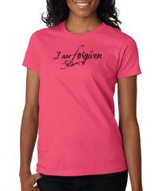 7b4ed77fdd104 Christian T shirts. I m Forgiven - Code 128T Christian Tee Shirts