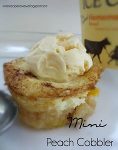 Mini Peach Cobbler.  These are so good and easy to make!!!!