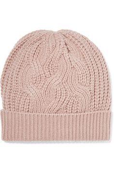 d82f8de5c74 Johnstons of Elgin - Cable-knit Cashmere Beanie - Blush