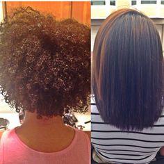 Hair pressed