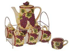 Luxury Grape Decor For Kitchen Grape Ceramic Cups