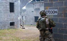 FBI Hostage Rescue Team operator during CQB training.