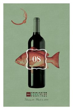 BB Charleston Food + Wine Festival And Charleston Magazine Unveil Winning Poster Design For 2008 Event | Charleston Area CVB