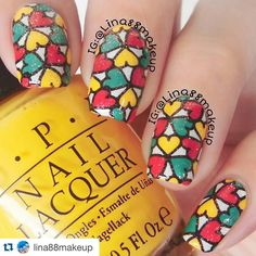 #Repost @lina88makeup with @repostapp. ・・・ My creation for #clairestelle8may day 1 - heart ⚫⚫⚫ I used @pueencosmetics stamping plate Geo Lover 02 ⚫⚫⚫ I feel less confident with my creations this time. These is the The first time I went back to play with my nail polish after long break for 38 days. I felt loss of my ideas to be creative in nail art and color combo . I also feel a little confused and awkward when using a nail art tools  I really hope that my ideas , mood and creativity ...